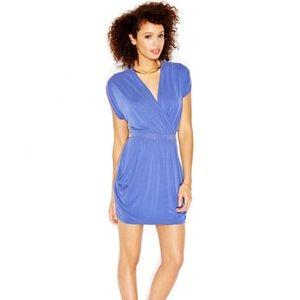 RACHEL Rachel Roy Teal Short Sleeve Wrap Dress